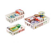 Ruco Aufbewahrungskorb (Set, 6 Stück) weiß Küchen-Ordnungshelfer Küchenhelfer Küche Aufbewahrungsboxen