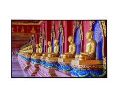 Papermoon Infrarotheizung Statuen in Tempel, sehr angenehme Strahlungswärme bunt Heizkörper Heizen Klima