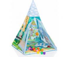 Fillikid Spielzelt Tipi, Landschaft bunt Kinder Spieltunnel Outdoor-Spielzeug Spielzelte