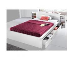 Breckle Futonbett, mit ausziehbaren Regalen im Kopfteil weiß Bettgestelle Betten Schlafzimmer Futonbett