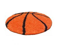 Ayyildiz Kinderteppich Fun 6002, rund, 30 mm Höhe, Motiv Basketball, Kinder- und Jugendzimmer orange Kinder Kinderteppiche mit Teppiche