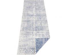 Läufer, BIRI, bougari, rechteckig, Höhe 5 mm, maschinell gewebt blau Küchenläufer Läufer Bettumrandungen Teppiche