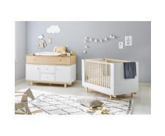 Pinolino Babymöbel-Set Boks, (Spar-Set, 2 St.), extrabreit; mit Kinderbett und Wickelkommode; Made in Europe weiß Baby Babybetten Babymöbel Möbel sofort lieferbar