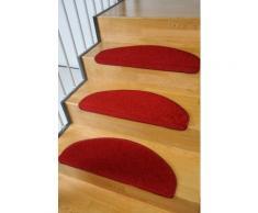 Stufenmatte Trend Living Line stufenförmig Höhe 8 mm maschinell getuftet, rot, Neutral, rot