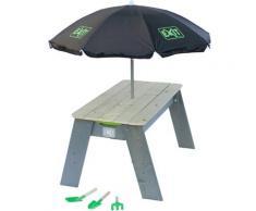 EXIT Kindersitzgruppe Spieltisch Aksent L DELUXE, BxL: 94x69 cm, inkl. Sonnenschirm und Gartenwerkzeuge beige Kinder Kinderstühle Kindermöbel