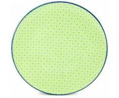 CreaTable Speiseteller Mediterran, (Set, 4 St.), Ø 27 cm, Steinzeug, Farbe grün Teller Geschirr, Porzellan Tischaccessoires Haushaltswaren