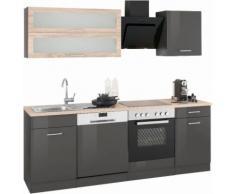 HELD MÖBEL Küchenzeile Utah, ohne E-Geräte, Breite 220 cm grau Küchenzeilen Geräte -blöcke Küchenmöbel