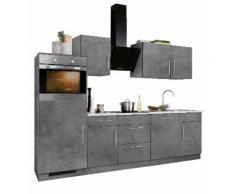 wiho Küchen Küchenzeile Cali EEK D grau Küchenzeilen mit Geräten -blöcke Küchenmöbel Arbeitsmöbel-Sets