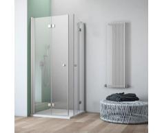 maw by GEO Eckdusche A-E430, ebenerdiger Einbau möglich silberfarben Bodenablauf Duschkabinen Duschen Bad Sanitär