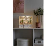 KONSTSMIDE LED Weisses Gartenhaus, weiß, Weiß
