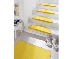Stufenmatte Fancy HANSE Home stufenförmig Höhe 7 mm maschinell getuftet, gelb, gelb