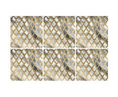 queence Getränkeuntersetzer GC0119, (Set, 6 tlg.), aus Acrylglas grau Untersetzer Küchenhelfer Haushaltswaren