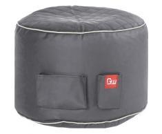 Sitzsack Gaming Sitzsack, 2 seitliche Taschen grau Sitzsäcke Sitzhocker Kleinmöbel