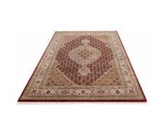 Orientteppich, Irrfan, DELAVITA, rechteckig, Höhe 12 mm, manuell geknüpft rot Fransenteppiche Teppiche