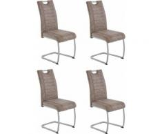 HELA Stuhl Barbara, 2 oder 4 Stück braun Freischwinger Stühle Sitzbänke