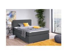 alina Boxspringbett Nikki, inklusive Matratze und Topper, Füße in Buche natur grau Polsterbetten Betten Schlafzimmer