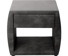 ADA trendline Nachttisch Nadine, mit Glasplatte schwarz Nachtschränke Nachttische Tische