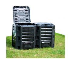 Prosperplast Komposter 800 l schwarz Garten Balkon