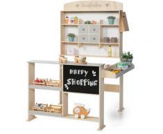 Sun Kaufladen Natur, weiß/grau, mit Kreidetafel bunt Kinder Ab 3-5 Jahren Altersempfehlung