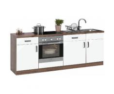 wiho Küchen Küchenzeile Tacoma, weiß, weiß Glanz