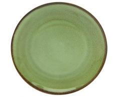 CreaTable Speiseteller NATURE COLLECTION, (Set, 6 St.), Ø 27 cm, Steinzeug grün Teller Geschirr, Porzellan Tischaccessoires Haushaltswaren