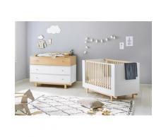 Pinolino Babymöbel-Set Boks (Spar-Set 2-tlg), weiß, Weiß/Ahorn