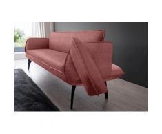 K+W Komfort & Wohnen Polsterbank Drive, mit Seitenteilverstellung zur Sitzplatzerweiterung, wahlweise in 218 oder 238 cm Breite Leder Flachgewebe rosa Polsterbänke Sitzbänke Stühle