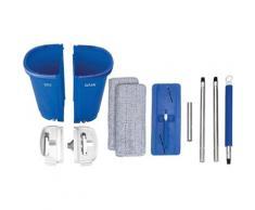 MediaShop Bodenwischer-Set Livington Touchless Mop XXL, inkl. Doppeleimer (7 Liter) und Mikrofaserpad blau Reinigungszubehör Reinigungsgeräte Küche Ordnung