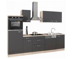 OPTIFIT Küchenzeile Faro, ohne E-Geräte, Breite 270 cm grau Küchenzeilen Geräte -blöcke Küchenmöbel Arbeitsmöbel-Sets
