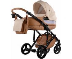 knorr-baby Kombi-Kinderwagen Set, »Sportime Wood Art, hellbeige«, braun, Unisex, hellbeige