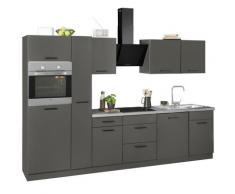 wiho Küchen Küchenzeile Esbo, ohne E-Geräte, Breite 310 cm grau Küchenzeilen Geräte -blöcke Küchenmöbel Arbeitsmöbel-Sets