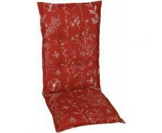 GO-DE Sesselauflage, 2er Set, 108 x 50 cm, mittel rot Gartenstuhlauflagen Gartenmöbel-Auflagen Gartenmöbel Gartendeko Sesselauflage