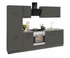wiho Küchen Küchenzeile Esbo EEK D grau Küchenzeilen mit Geräten -blöcke Küchenmöbel Arbeitsmöbel-Sets
