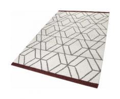Teppich Hexagon Esprit rechteckig Höhe 8 mm handgewebt, weiß, Neutral, wollweiß