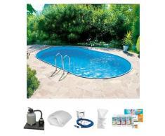Clear Pool Ovalpool, (Set) weiß Ovalpool Swimmingpools Pools Planschbecken Garten Balkon