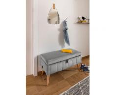 my home Truhenbank Amira, mit Staufach, in 3 Bezugsqualitäten silberfarben Truhenbänke Sitzbänke Stühle