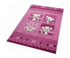 Kinderteppich Kitty Kat SMART KIDS rechteckig Höhe 10 mm handgetuftet, rosa, Neutral, pink