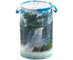 Sanilo Wäschekorb Wasserfall blau Badmöbel