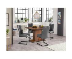 HELA Essgruppe (Set, 5-tlg) grau Essgruppen Tische Sitzmöbel-Sets