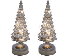 Creativ light LED Baum, 2 St., Tannenbaum aus Glas grau Baum Aktuelle Wohntrends