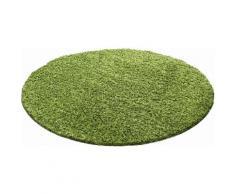 Ayyildiz Hochflor-Teppich Life Shaggy 1500, rund, 30 mm Höhe, Wohnzimmer grün Schlafzimmerteppiche Teppiche nach Räumen