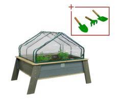EXIT Hochbeet Aksent XL Deluxe (Set) beige Kinder Hochbeete Gewächshäuser Garten Balkon Pflanzgefäße