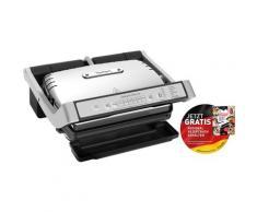 Tefal Kontaktgrill GC707D OptiGrill Deluxe 2000 Watt, schwarz, edelstahlfarben-schwarz