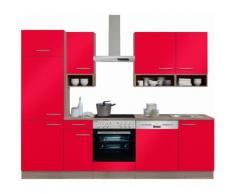 OPTIFIT Küchenzeile ohne E-Geräte,»Korfu« Breite 270 cm, rot, rot