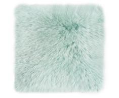 LUXOR living Kissenhülle Namika, (1 St.), Hülle für Dekokissen, Zierkissen, eckig, 40x40 cm, aus echtem Lammfell grün Kissenbezüge Kissen