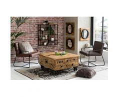 SIT Couchtisch Rustic, im factory design, Breite 90 cm, Shabby Chic, Vintage, quadratisch beige Holz-Couchtische Holztische Tische