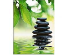 Artland Glasbild Zen Steinpyramide auf Wasseroberfläche, Zen, (1 St.) grün Glasbilder Bilder Bilderrahmen Wohnaccessoires