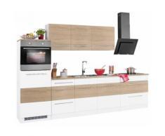 HELD MÖBEL Küchenzeile Trient, mit E-Geräten, Breite 290 cm EEK B braun Küchenzeilen Geräten -blöcke Küchenmöbel Arbeitsmöbel-Sets