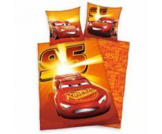Kinderbettwäsche Cars 95 Walt Disney, rot, rot-orange