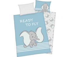 Disney Babybettwäsche Dumbo, mit niedlichem Hello Kitty blau Frühlingsbettwäsche Bettwäsche, Bettlaken und Betttücher